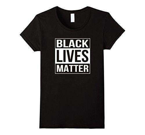 Women's Black Lives Matter Political Protest T-Shirt Large Black