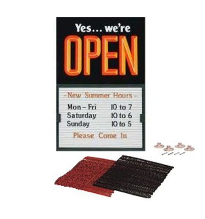 Open Closed Message Slider Board Sign, 14