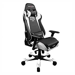 Dxracer Racing Bucket Seat Office Chair X Large DOH/KF00/NW/ZERO Newedge Edition Pvc Gaming Chair Computer Chair Executive Chair Ergonomic Rocker With Pillows (Black/White)