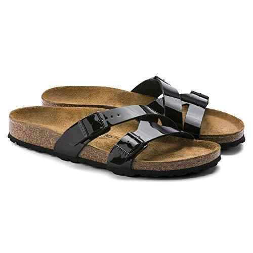 b949cdd9fdd15 Birkenstock Unisex Yao Balance Birko-Flor Black Sandals 7 W / 5 M US
