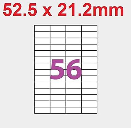 20 A4 hoja de etiquetas 56 52,5 x 21,2 mm etiqueta adhesiva ...