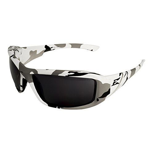 Camo Edge (Edge Eyewear Brazeau Sunglasses, Arctic Camo Frame, Smoke Lenses, XB116-AC)