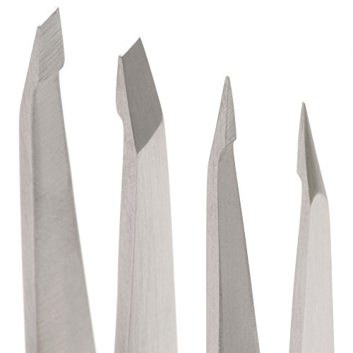 Harperton Pluckit - Professional Tweezers Set - Slant + Pointed Precision Tips by Harperton (Image #6)