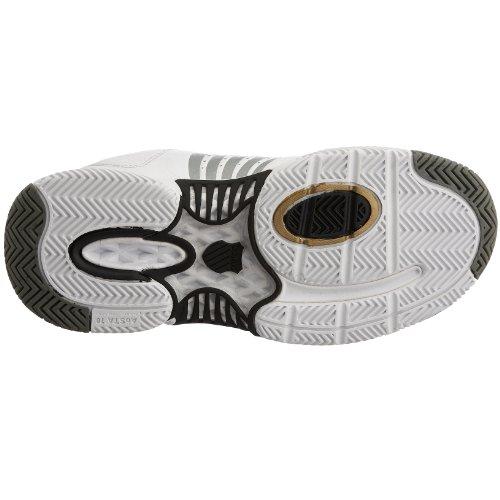 Femme Terrain Leather Gris dur Chaussures Blanc K Tennis Swiss Or Blanc Blanc Ascendor Gris Or qEawxX0