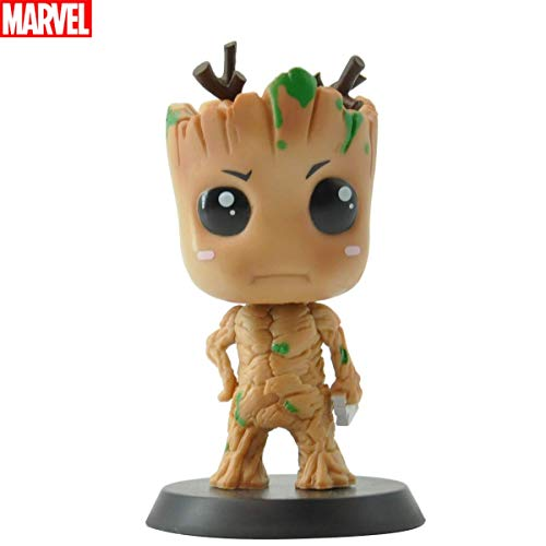 Head Doll Bobble (Marvel Bobblehead Groot Marvel Heros Action Figure Collectible Bobble Head Doll Perfect for Car/Holiday Decoration Friend Gift, 4 Inches (Marvel Certificate))