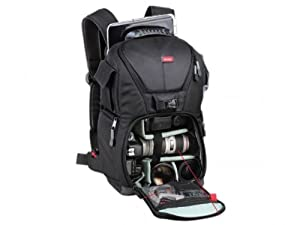 Vivitar Series One Digital SLR Camera / Photo 15.4 -Inch Laptop Notebook and Accessory Sling Travel Backpack - DKS-20 Medium -Black from Sakar