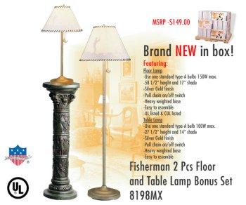 UPC 071592181989, American Lighting 8198MX The fisherman's Lodge Table and Floor Lamp Sets