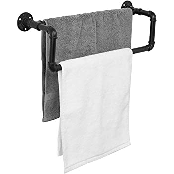 Amazon.com: DIY CARTEL Industrial Pipe Towel Rack Hardware ...