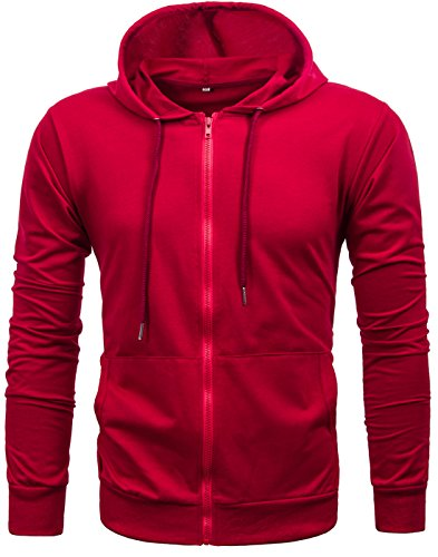 GARSEBO Sleeve Lightweight Zip up Hoodie product image
