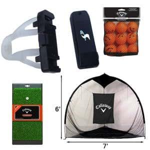 SwingSmart Home Range Bundle - Callaway Tri-Ball Hitting Net, HX Practice Balls & FT Launch Zone