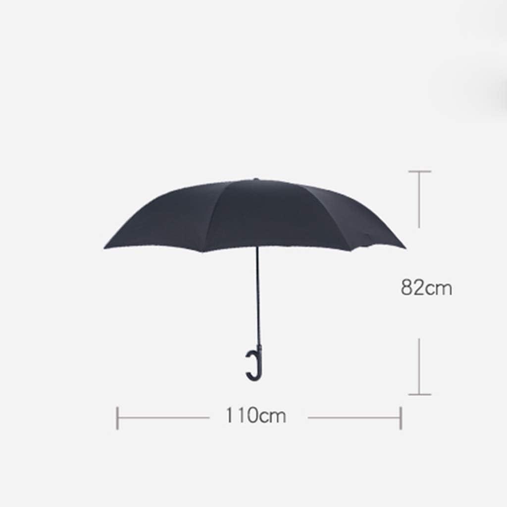 Color : B Reverse Umbrella Double-Layer Umbrella with A Reflective Strip for The Car-Free Folding Umbrella
