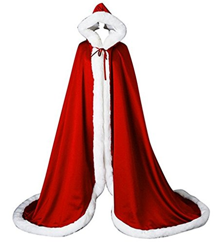 ACB Women's Wedding Bridal Cloak Winter Christmas Faux Fur Edge