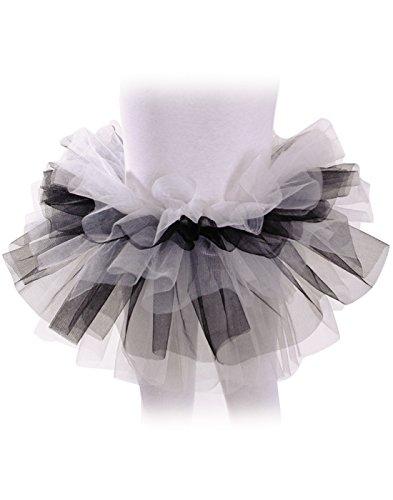 Underwraps Big Girl's Underwraps Girl's Multicolored Tutu - White/Black, OS Childrens Costume, black/white, One (Diy Tutu Costume)