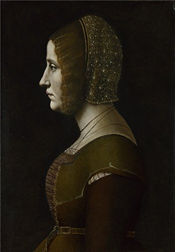 Oil Painting 'Giovanni Ambrogio De Predis-Profile Portrait Of A Lady,1500', 8 x 12 inch / 20 x 29 cm , on High Definition HD canvas prints is for Gifts And - Finder Myer Store