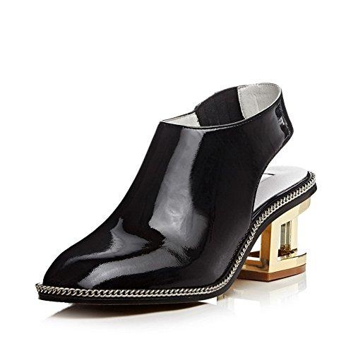 Noir 5 Compensées Sandales Aimint EYR00281 36 Noir Femme 08OIwqI
