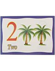 English Numbers Flash Cards For Unisex, 20 Pieces - Multi Color