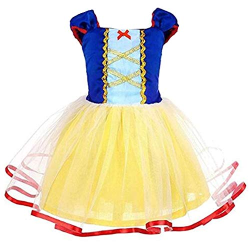 Tsyllyp Girls Snow White Princess Dress Nightgowns Halloween Party Dresses]()