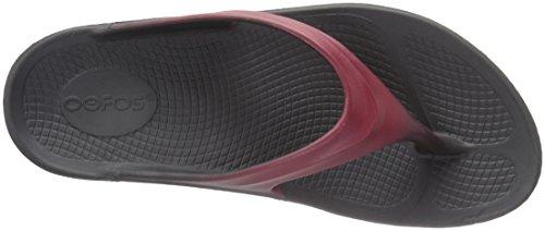 OOFOS Women's OOlala Thong Flip-Flop Black/Marsala Black cheap sale looking for 4Z6OPDa