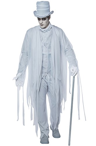 California Costumes Men's Haunting Gentleman Adult Man Costume, White/Gray Extra Large ()
