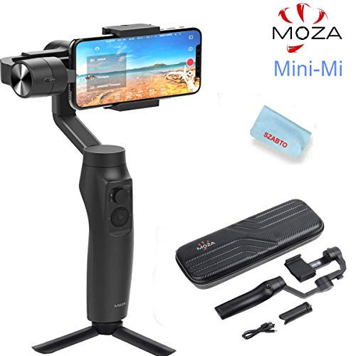 - Moza Mini-MI 3-Axis Smartphone Wireless Charging Gimbal Stabilizer, Multiple Subjects Detection, Inception Mode, Timelapse for iPhone X/8/7/7 Plus/6/6 Plus, Samsung Galaxy S8+/S8/S7 (Max Load 10.6 oz)