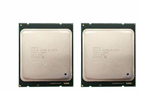 (Intel Matching Pair Xeon E5-2670 Eight Cores Processors 2.60GHz 20MB Smart Cache 8.00 GT/S QPI TDP 115W SR0KX BX80621E52670)