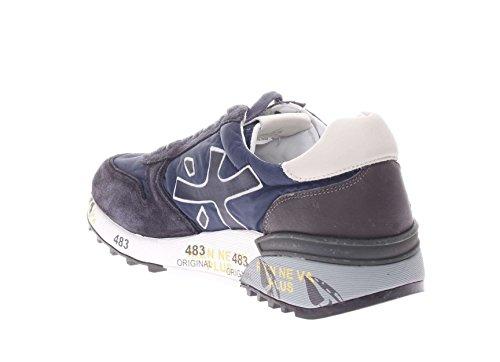 PREMIATA Uomo Sneaker Mick Var 2818 Sneaker in Pelle e Tessuto Uomo blu