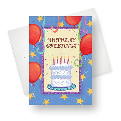 Red Balloons Birthday Greeting Card - Premium Quality with Unique Designs - for Boys, Girls and Adults - 5.5
