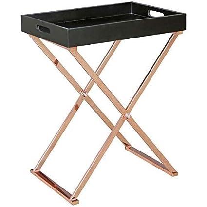 Wohnling - Mesa Auxiliar de TV Tray Plegable 48 x 61 x 34 cm ...