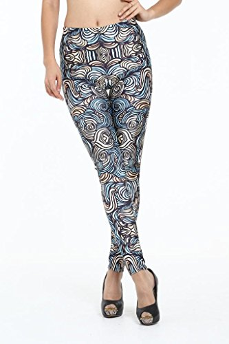 Ninimour Womens 3D Digital Print Tight Sports Pants Leggings