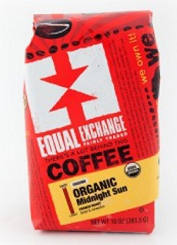 Equal Exchange Organic Coffee, Midnight Sun, Whole Beans, 10 Ounces