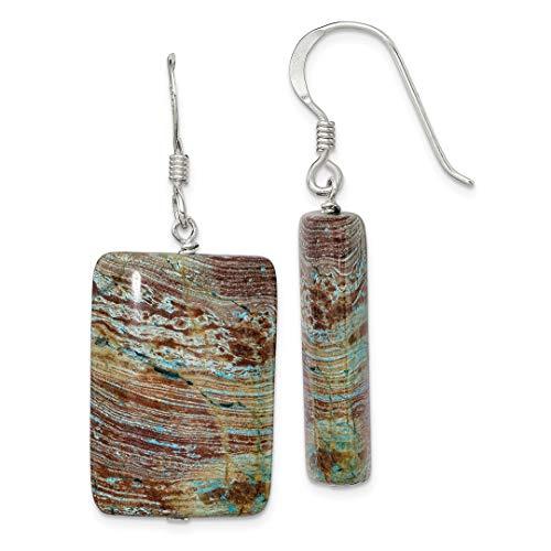 925 Sterling Silver Jasper Drop Dangle Chandelier Earrings Fine Jewelry For Women Gift Set