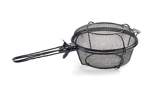 Mikash Large Barbecue Grill Basket and Skillet Wire Mesh with Removable Handles | Model GRLLST - 192 ()