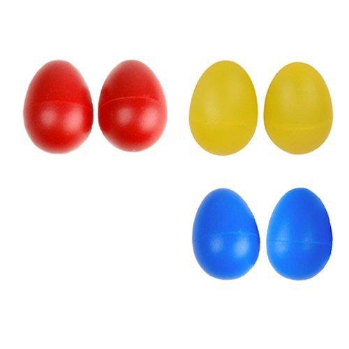 TOOGOO(R) 1 paire Maracas en plastique de musique a percussion en forme d'oeuf Shakers - Jaune citron
