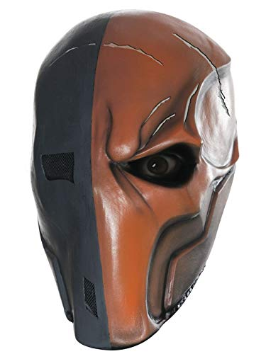 Rubie's Men's Arkham City Death Stroke 3/4 Vinyl Mask, Multi, One Size -