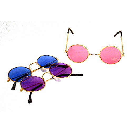 John Lennon Colored Sunglasses 1 Pair (colors - Circular Glasses Rimless
