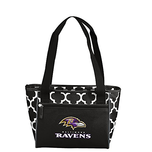 NFL Baltimore Ravens 16 Can Cooler Tote, Black, One Size by Logo Brands