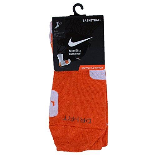 Nike Calzini Elite Basket Crew Team Orange/White//White