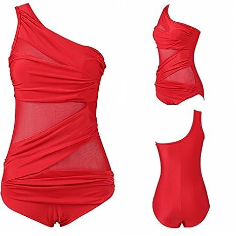 3f395d9ac0993e Sportbekleidung VADOO Damen Badeanzug Große Größe Elegant Monokini  Einteilig Bauchweg Bademode Push up Badebekleidung Badeanzüge Bauch weg