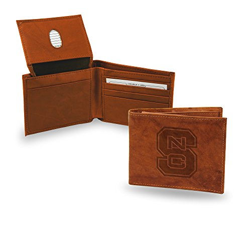 NCAA North Carolina State Wolfpack Embossed Leather Billfold Wallet