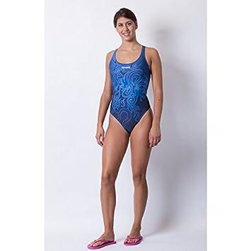 Jaked Woman Leonix Blue Swimming Costume Amazoncouk Sports