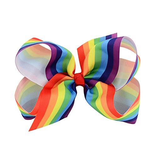 (1 Piece Women Girls Hair Pin Colorful Big Bow Decor Hair Clip Headwear (Color - M))
