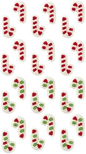 Wilton Mini Candy Cane Edible Cupcake Toppers ()