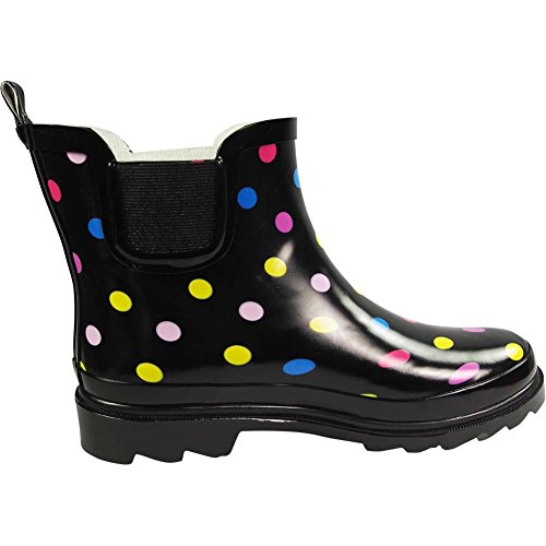 Multi NORTY Spring Garden Dot Boots Boot Black Winter Ankle Womens Ladies Rain Waterproof rUTrF1W