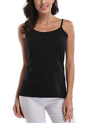 CharmLeaks - Camiseta sin mangas - para mujer Black pack of 2
