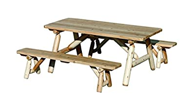 White Cedar 8' Picnic Table with Detached Benches *6 stain options*