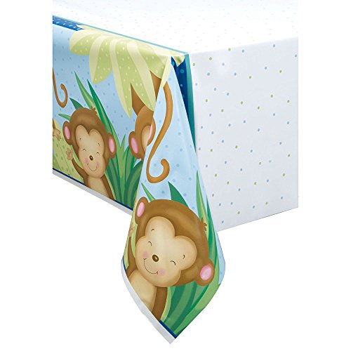 Monkey Baby Shower Plastic Tablecloth