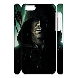 3D Print Hot TV Play Series&Green Arrow Background Case Cover for iPhone 5C- Personalized Hard Cell Phone Back Protective Case Shell-Perfect as gift