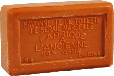 Savon de Marseille (Marseilles Soap) - Chocolate Soap Bar 150g - Handcrafted pure French milled soap