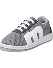Salerno Mesh Contrast Leather Detail Lace-Up Fashion Sneakers for Kids