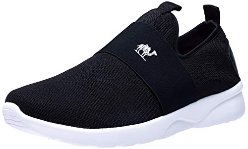 CAMEL CROWN Slip On Shoes Men Breathable Fly Knit Walking Sneakers Lightweight Casual Loafers Black